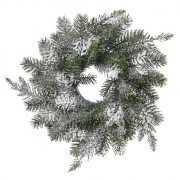 Pine Wreath Loose W/Snow Dimensions: Dia: 320mm