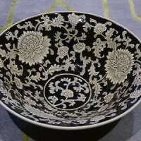 India-Jane-Black-Ceramic-Hand-Painted-Mandalay-Bowl